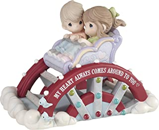 Precious Moments 193009 My Heart Always Come Around to You Limited Edition Couple On Ferris Wheel Bisque Porcelain FIGURIN...