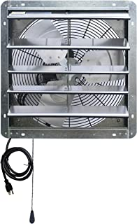 Iliving ILG8SF18V-T 18 inch Shutter Exhaust Attic Garage Grow, Ventilation Fan with 3 Speed Thermostat 6 Foot Long 3 Plugs Cord, 18