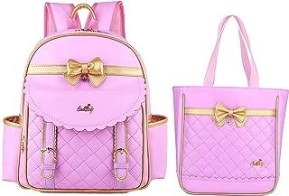 Gazigo Children Princess Waterproof PU Backpack for Elementary School Girls