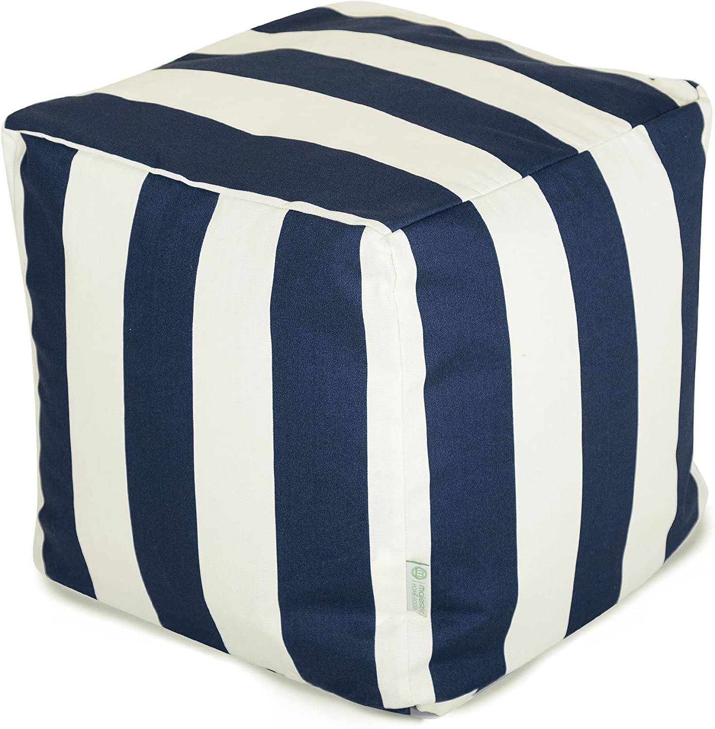 Majestic Home Goods Navy bluee greenical Stripe Small Cube