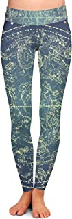 Queen of Cases Stars Constellations Map Yoga Leggings XS-3XL