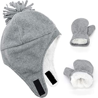 Baby Boy Sherpa Lined Warm Fleece Pilot Hat Infant...