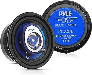 """6.5"""" Three-Way Sound Speaker System - 180 W RMS/360W Power Handling w/ 4 Ohm Impedance and 3/4'' Piezo Tweeter for Car Com..."""