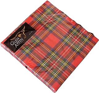 Glen Appin Of Scotland Scottish Red Royal Stewart Tartan 3 Ply Paper Napkins