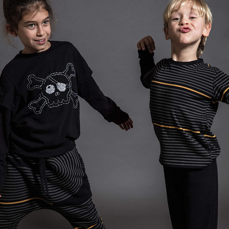NUNUNU Long Sleeve T-Shirt, for Baby Boys and Girls, 100% Cotton, Unisex, Cool Prints