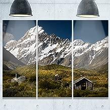 "Designart MT9229-3P Foggy Mountains & Valley Landscape Photo Metal Wall Art (3 Panels), Green, 36x28"""