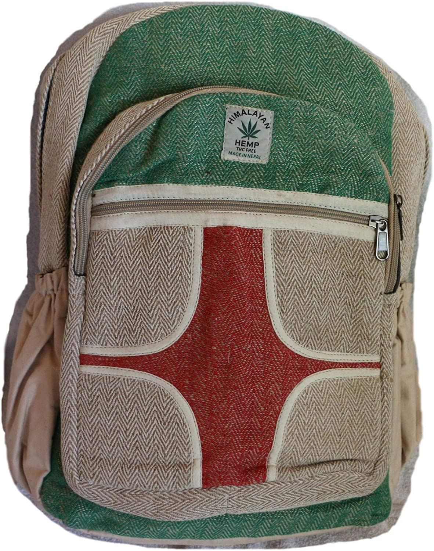 Hanf Rucksack, Hanf Tagesrucksack Daypack Daypack Daypack für Schule, Reise, Freizeit, Outdoor, Sport, Natur – mit Laptopfach, handgemacht in Nepal – model 81, wasserdicht B07JC6MYP3  Verrückter Preis a7fb93