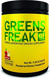 PHARMAFREAK Greens Freak - Sweet Apple - 262G Powder - Hybrid SUPERFOOD Greens Supplement - Sweet Apple - Designed for Ath...