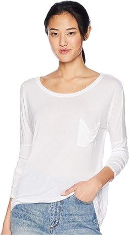 Long-Sleeve Drop Shoulder Top
