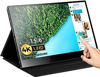 Portable Touch Monitor, Eyoyo 15.6 inch 4K USB C Monitor Touchscreen UHD 3840x2160 10-Point Touch USB C HDMI Laptop Displa...