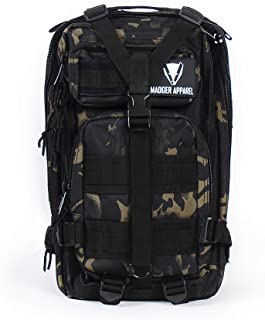 Madger Mochila 20L / Camuflaje Táctico / Militar, Senderismo, Trekking, Camping, Bicicleta, Outdoor / Impermeable, Multi-fonctionnel
