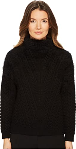 ESCADA - SOP Chunky Knit Mock Neck Sweater