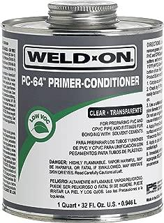 Weldon 12656 Pc-64 Clear PVC/Cpvc Primer-Conditioner Low-Voc, 1 Quart, Clear