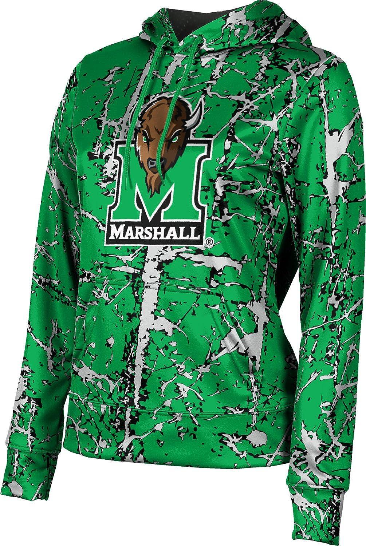 ProSphere Marshall University Girls' Pullover Hoodie, School Spirit Sweatshirt (Distressed)