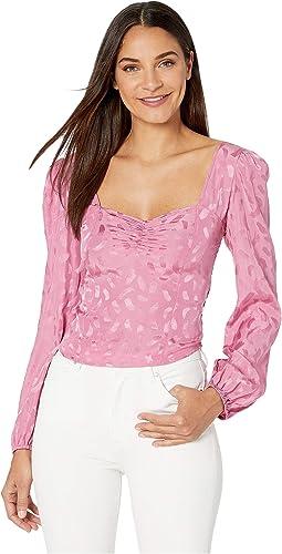Pink Paint Stroke Jacquard