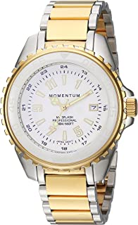 Momentum Women's Quartz Stainless Steel Diving Watch, Color Two Tone (Model: 1M-DN65WS0)