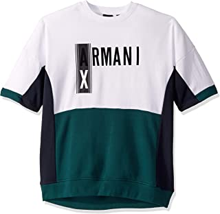 A|X Armani Exchange Men's Short Sleeve Colorblock Jumper with Large Ax Chest Logo