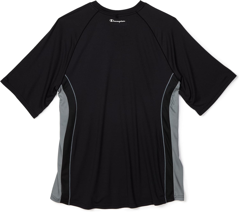 Russell Athletic Men's Big and Tall Dri-Power Contrast Raglan Short Sleeve