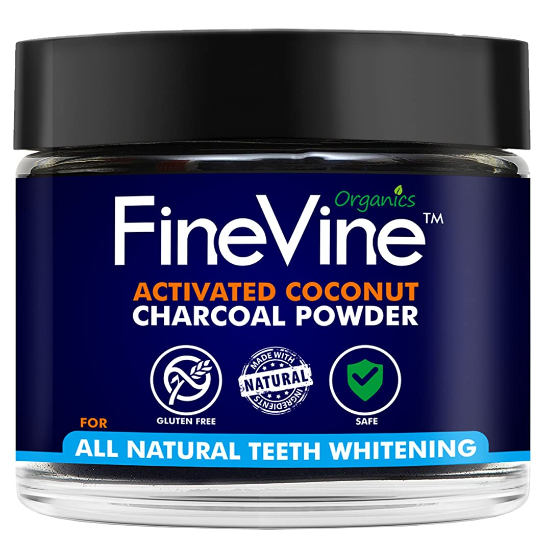 ピアニスト区別する配送Activated Coconuts Charcoal Powder Made in USA Tooth Whitener Product (Peppermint)