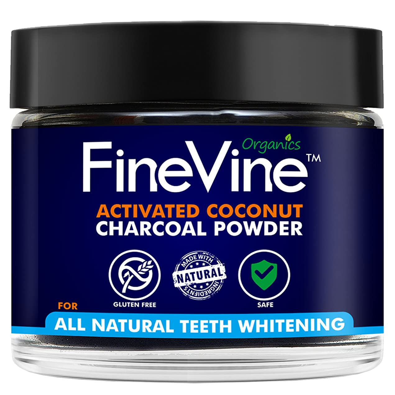 気難しい酸化物庭園Activated Coconuts Charcoal Powder Made in USA Tooth Whitener Product (Peppermint)