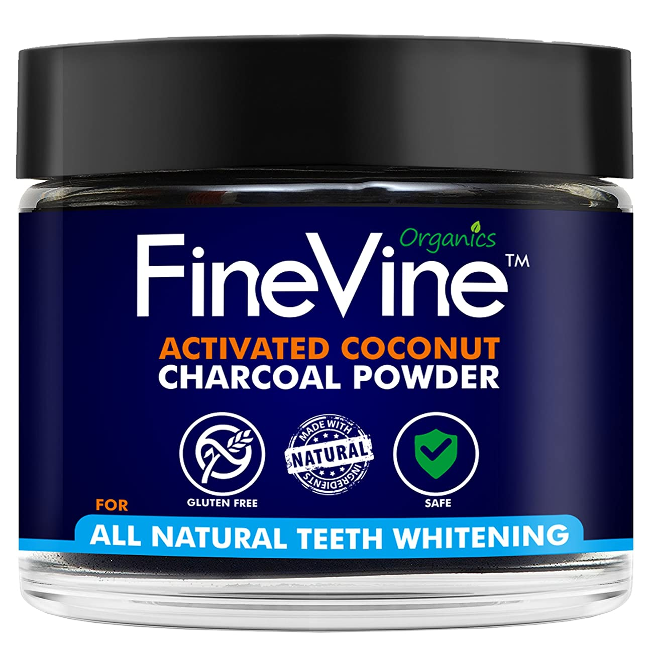 シンプトン苦痛製品Activated Coconuts Charcoal Powder Made in USA Tooth Whitener Product (Peppermint)