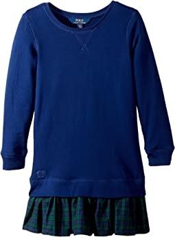 Polo Ralph Lauren Kids - Ruffled-Hem Fleece Dress (Little Kids)