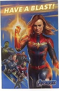 Avengers Birthday Card - Ideal Gift Card for Her - Avengers Endgame - Avengers Featuring Captain Marvel, Captain America, Hulk, Thor, Iron Man, Rocket Raccoon - Marvel
