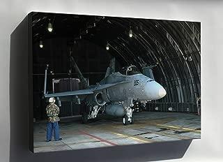 Canvas 24x36; Fa-18A Hornet F-18 Vfa-97 Warhawks Osan Air Base, S. Korea