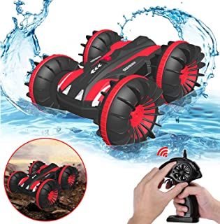 Gifts for 6+ Year Old Boys Pussan Amphibious Remote Control Car for Kids and Adults 2.4 GHz RC Stunt Car for Boys Girls 4W...