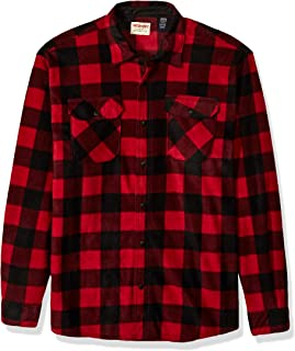 Wrangler Men's Big & Tall Long Sleeve Plaid Fleece Shirt