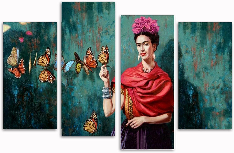 Frida Kahlo Schmetterlinge Schmetterlinge Schmetterlinge Set von 4 neue Leinwand Split Prints 81,3 x 50,8 cm B074NWK7SP e0d825