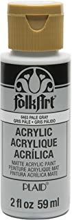 FolkArt Acrylic Paint in Assorted Colors (2 oz), 6463, Pale Gray