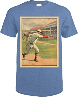 Strike one! Vintage Poster USA c. 1905 64977 (Heather Royal T-Shirt X-Large)