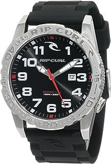 Rip Curl Men's A2444-BLK Cortez Two XL Polyurethane Stainless-Steel Sport Bezel Watch