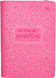2019 Executive Planner with Zipper Closure - Grateful Heart