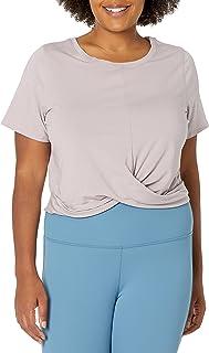 Core 10 Camiseta de Yoga Pima con Nudo de Mezcla de algodón Playera para Yoga para Mujer