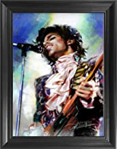Prince 3D Poster Wall Art Decor Framed Print | 14.5x18.5 | Lenticular Posters & Pictures | Merchandise Gifts for Guys & Girls Bedroom | Greatest Hit CD Memorabilia Hot Rock Pop Music Star Purple Rain