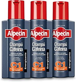 Alpecin Champú Cafeína C1 3x 250ml | Champu anticaida hombre y con cafeina | Tratamiento para la caida del cabello | Alpec...