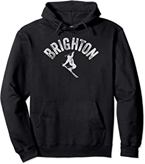 Ski Brighton Vintage Skiing Utah Cool Skier Gear Pullover Hoodie