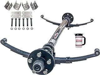 3,500 lb Idler Trailer Axle Running Gear ( Idler Axle W/ Hubs, Bearings, Lugs & Nuts, Springs, U-bolt Kit, Hanger kit. (95