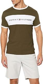 Tommy Hilfiger CN SS Tee Logo Flag T-Shirt Uomo