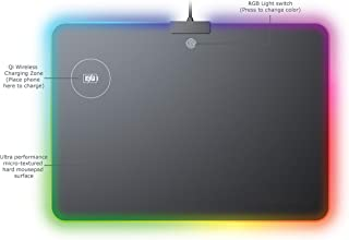 MOJO Wireless Charger Mousepad - Qi Quick Charging Gaming Mouse Pad with RGB Lighting