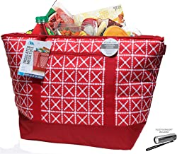 12 Gallon Insulated Mega Tote Red Bag - The Way to Transport Frozen Food, Perishables and Hot Food
