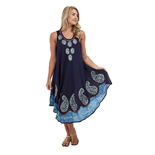 044e60395 RG Clothing Women Ladies Plus Size Sleeveless Dress Beach Summer Sundress  Fot For Size 12 To