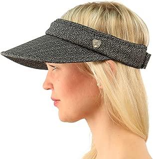 UPF UV Sun Protection Wide Brim 100% Cotton Beach Pool Visor Golf Cap Hat