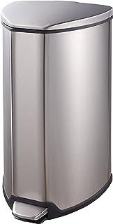 EKO Grace Step Bin 15L, Metal, Matt S/S, 29.3 x 27.2 x 51.2 cm