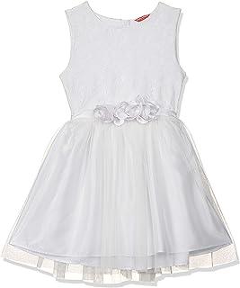 Amazon Brand - Jam & Honey Polyester Girls' Dresses & Jumpsuits Knee-Length Dress (JHAW20GPDRS14_White_9-10 Years)