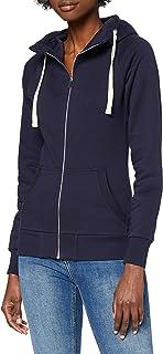 HIKARO Sweat-Shirt Zippé à Capuche Femme