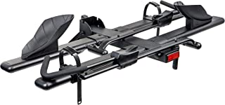 Overdrive Hitch Mount Bike Rack Bicycle Carrier - Front Clamping, Platform Style - 2-Bike, Fits 1.25