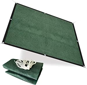 Alion Home 75% Sunblock Sun Shade Plant Cover UV Resistant Durable Shade Net Panel for Garden, Greenhouse, Flower, Barn, Kennel, Fence - Green (6' x 9')